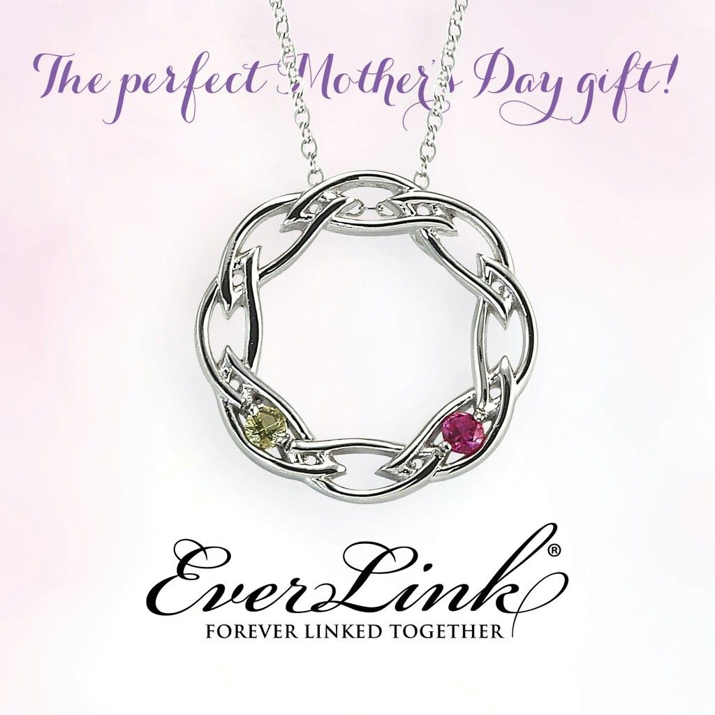 Ask about the Ever Link mother's pendant today.  The perfect Mother's Day gift.  Each set with your families birthstones. Available in 14K gold and sterling silver.  Luxenberg's...We want to be your Jeweler!  www.luxenbergs.com