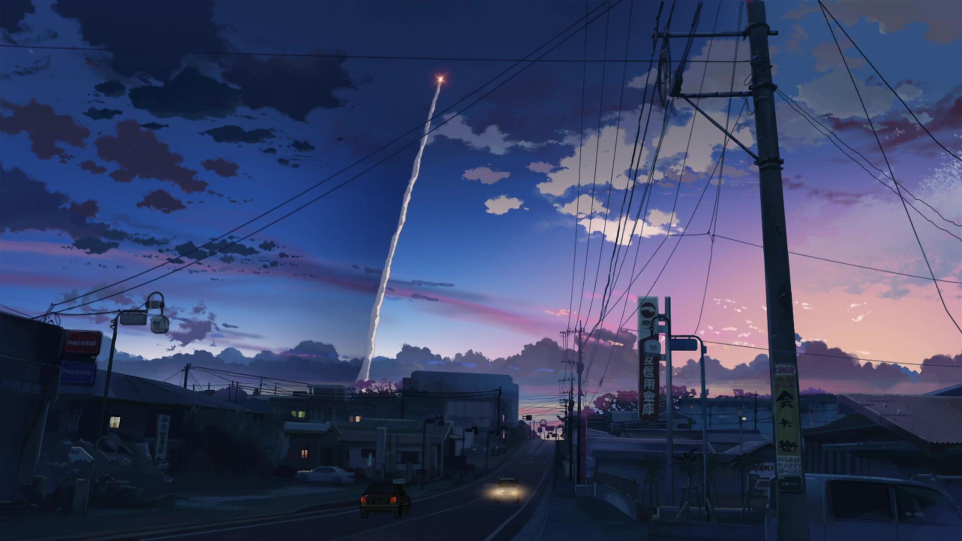 5 Centimeters Per Second Makoto Shinkai anime contrails
