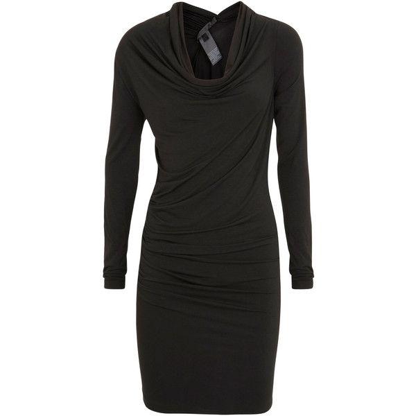 Donna Karan Draped Stretch Jersey Tunic ($930) ❤ liked on Polyvore