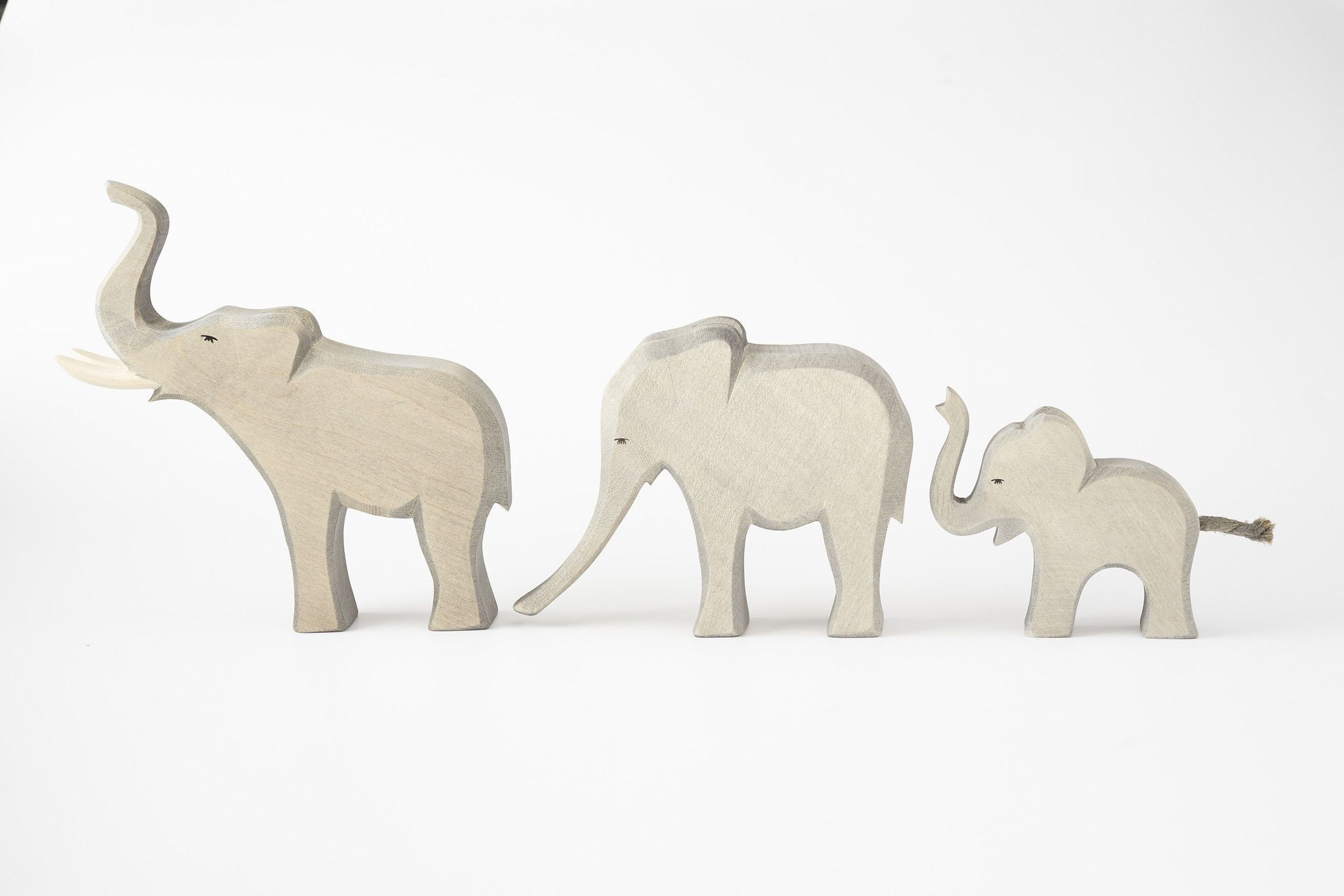 hand-crafted, ostheimer wooden animal toys. carved with