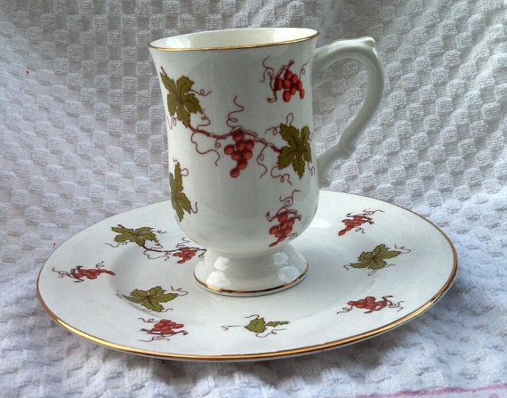 Royal Victorian buffet plate and coffee mug with by EllaBella07, $15.00