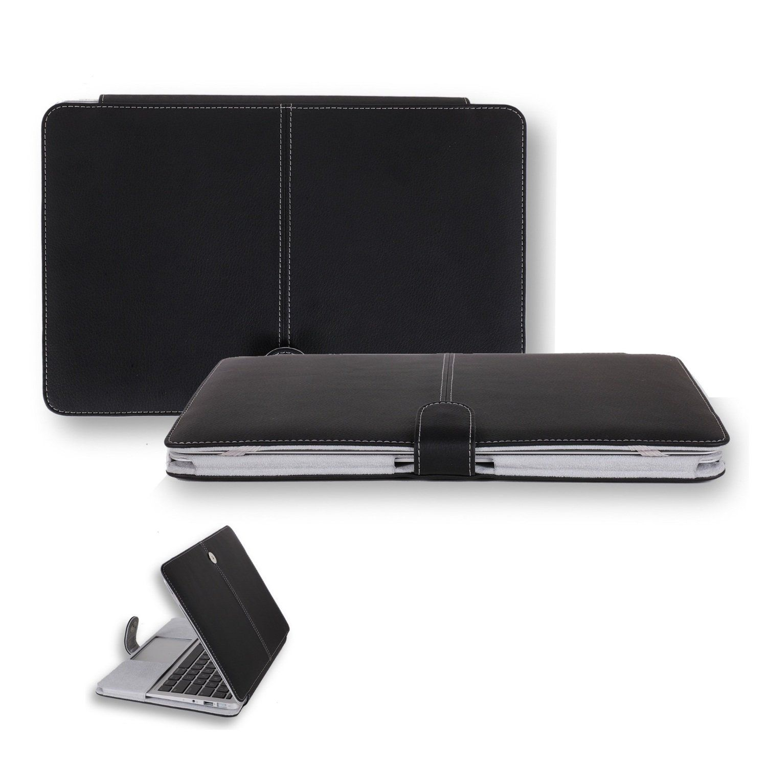 new product 18cd5 2c186 Amazon.com: CaseCrown Book Cover Clip On Case (Black) for 13 Inch ...