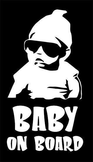 """Baby On Board"" vinyl decal sticker ORIGINAL Face Book JDM ..."
