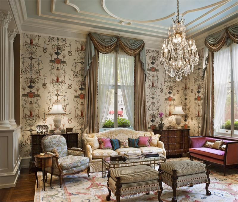 Open Traditional Living & Family Room | Drawing Room | Pinterest ...