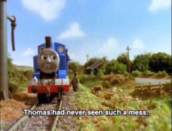 Meme Face Funny Hilarious Comedy Mess Thomas Train Thomasthetrain Childhood Show Tvshow Funny Pictures Funny Memes Memes