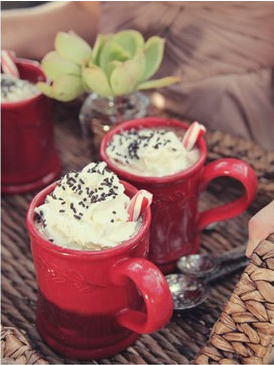 idea for the Hot Chocolate Bar for a winter wedding..candy canes!! :D