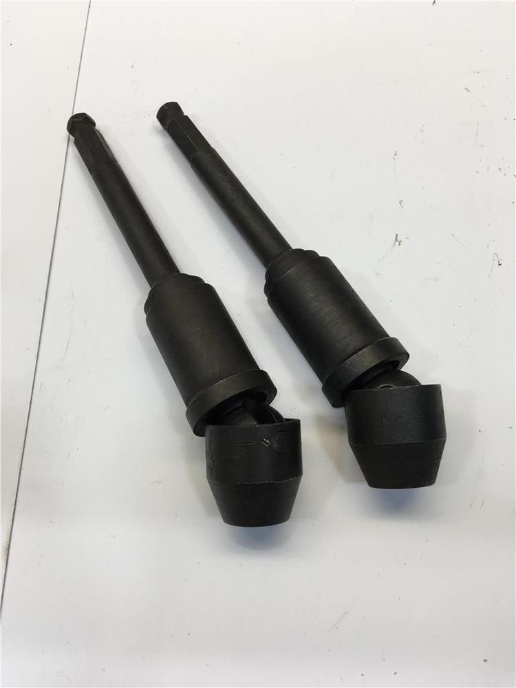 USA APEX 7 16 Hex Dr X 9 12 Point Tension Swivel Extension Socket 2pc Lot