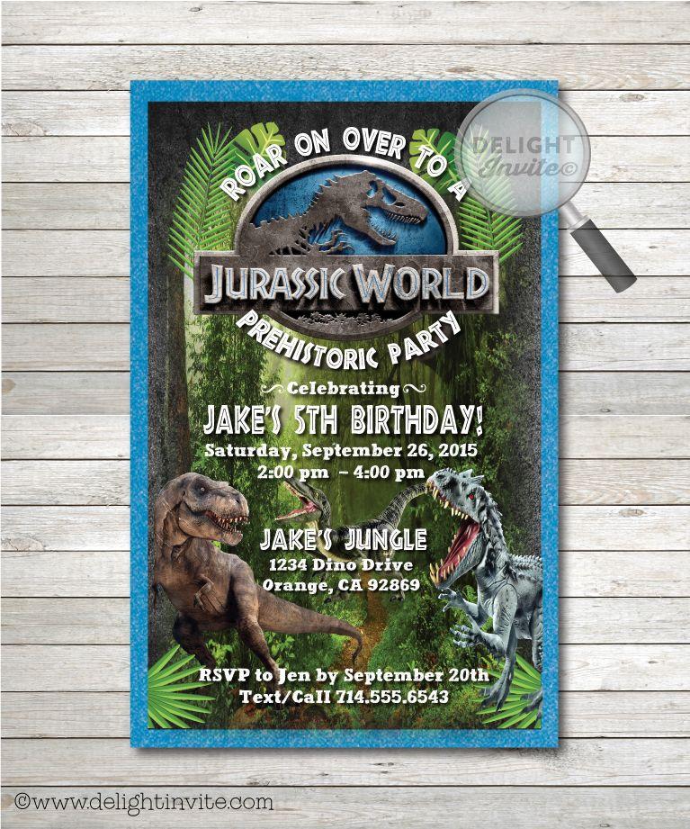 Jurassic World Birthday Invitations Fiesta De Dinosaurios