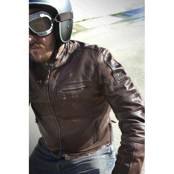 i like this brown vintage cafe racer jacket. #motorcyclejacket