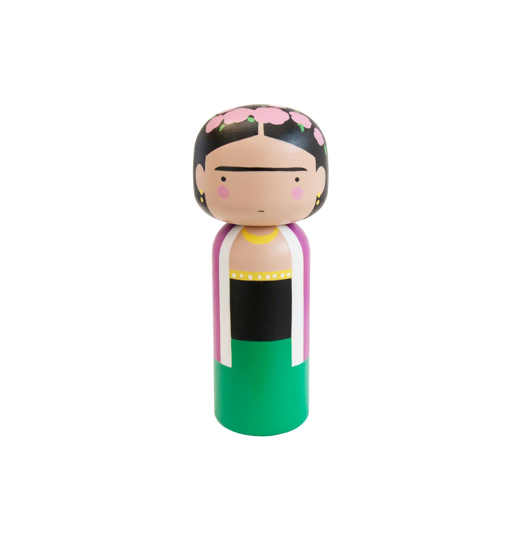 Frida Kahlo Kokeshi Doll - Lagom Design