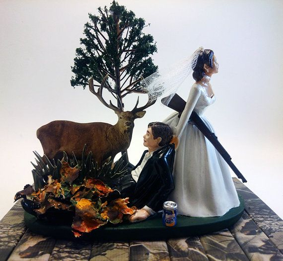 Hunting Camo Wedding Ideas: The Hunt Is Over Funny Hunting Wedding By