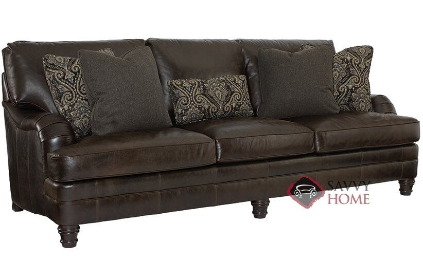Tarleton Leather Sofa with Down-Blend Cushions by Bernhardt in 253-122 at Savvy Home. $2,329.00