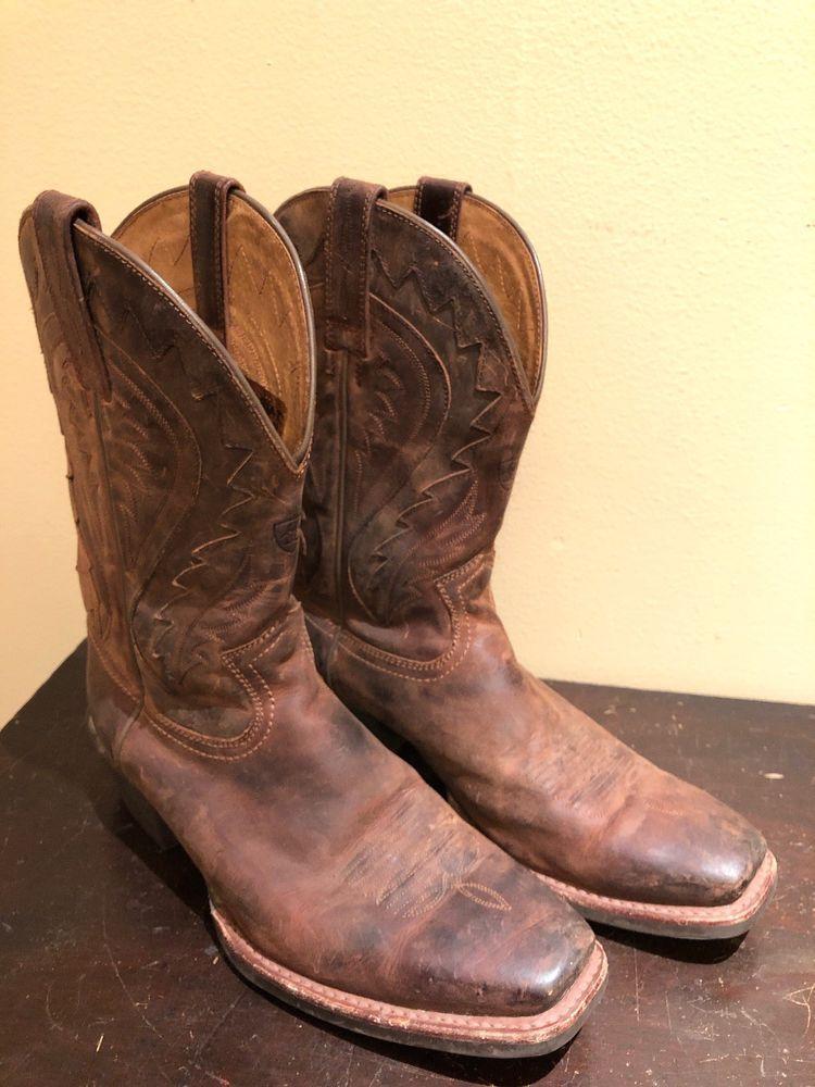 b134d36afa9 ARIAT 10002310 Legend Phoenix Square Toe Leather Cowboy Boots Brown ...