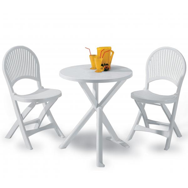 Sedie Tavoli In Plastica.Tavolo E Sedie Da Giardino Set Modello Brio In Plastica Da