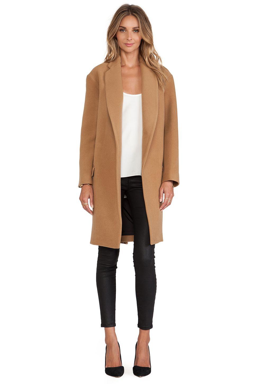 NICHOLAS Felted Wool Full Length Coat in Camel - dreamy. | 2015 ...