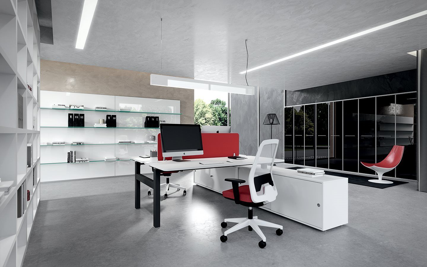 "Office Tables on ""T"" shaped legs - DV803 - Della Valentina Office ..."