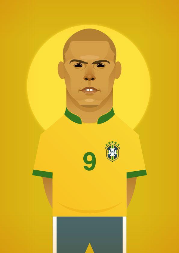 Stanley Chow Soccer Prints — Ronaldo Luís Nazário de Lima Repinned by Aline  Illustrations/graphic designs