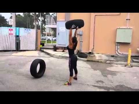 Outside Tire Workout With Andrea Calle Youtube Fitness