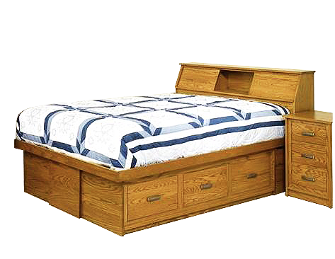 Amish Mission Bed With Bookcase Headboard Style Furniturebookcase Headboardbedroom