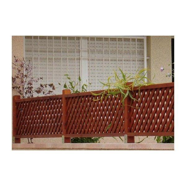 Baranda de madera terminaci n de terraza rejados - Barandas de terrazas ...