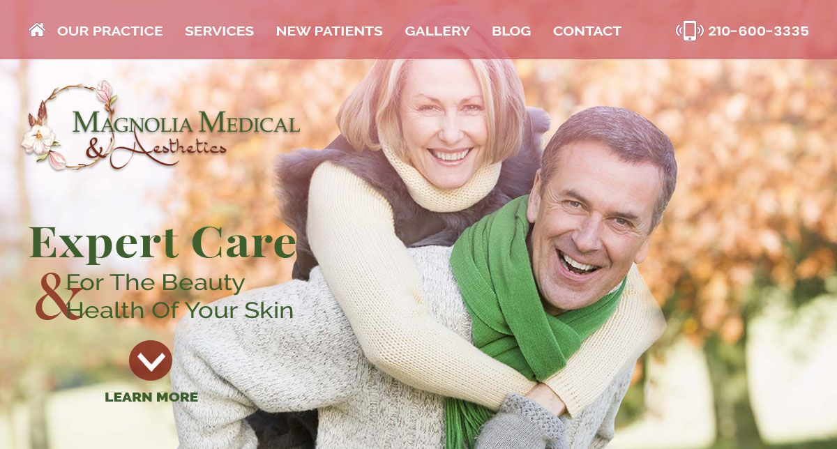 Magnolia Medical Aesthetics San Antonio Medical Aesthetic Medical Custom Website Design