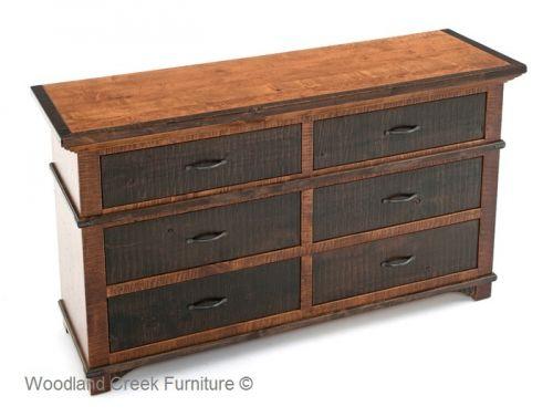 Refined rustic dresser elegant alder dresser mountain - Rustic elegant bedroom furniture ...