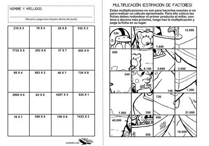 Ejercicios De Multiplicacion Con Imagenes Imagui