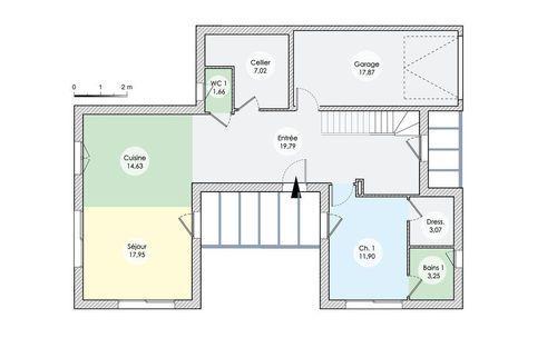 Une maison sculpturale dans l\u0027Ain - Plan Maison En Longueur