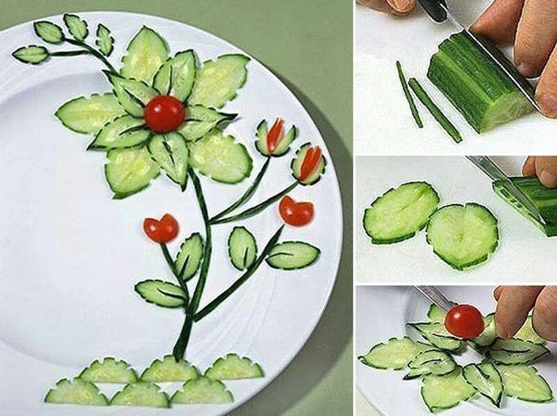 Cucumber creativity. | Amazing food decorations ! | Pinterest - photo#15