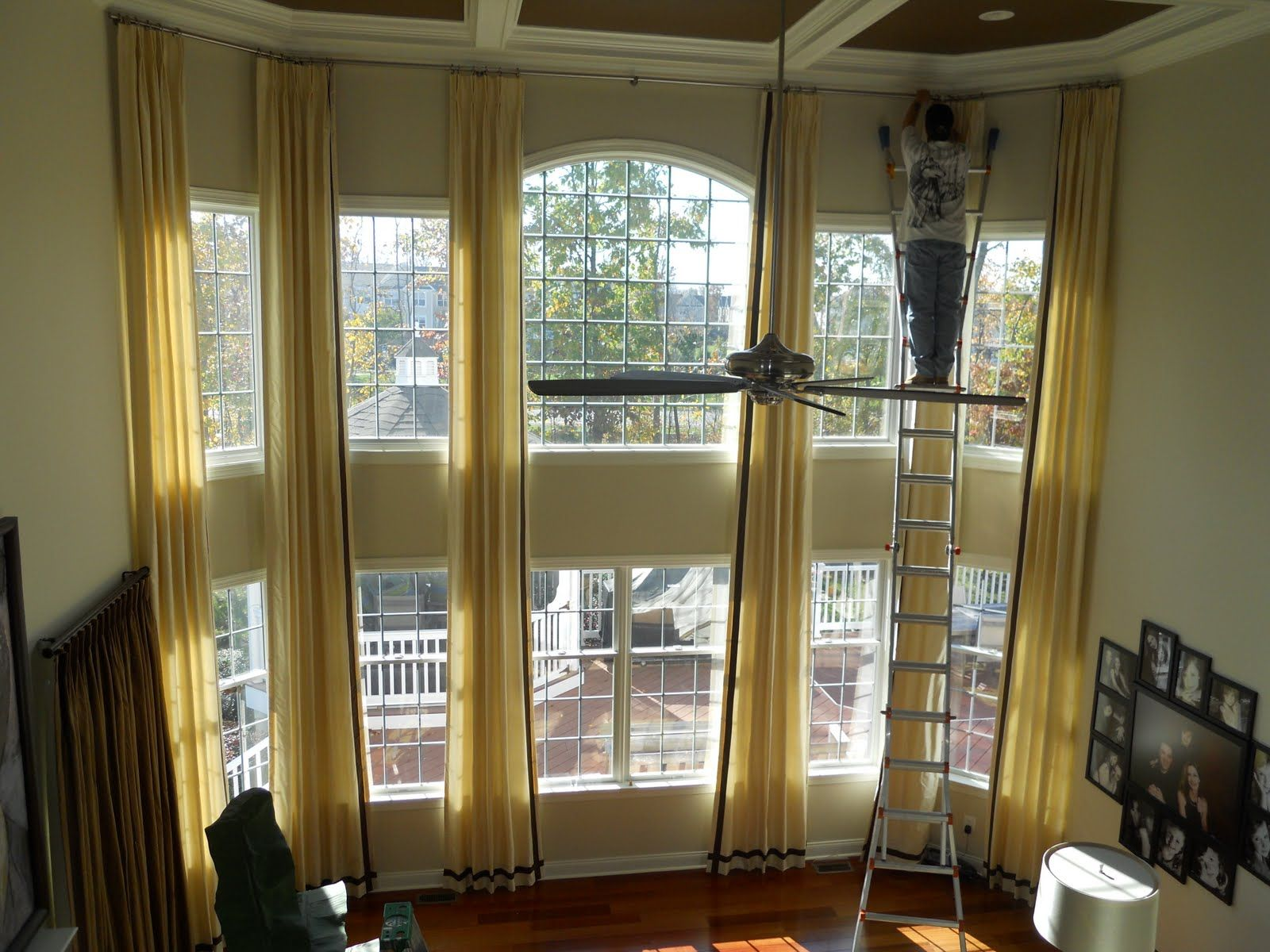 Blinds Drapes Curtains Two Story Windows Help Doityourself
