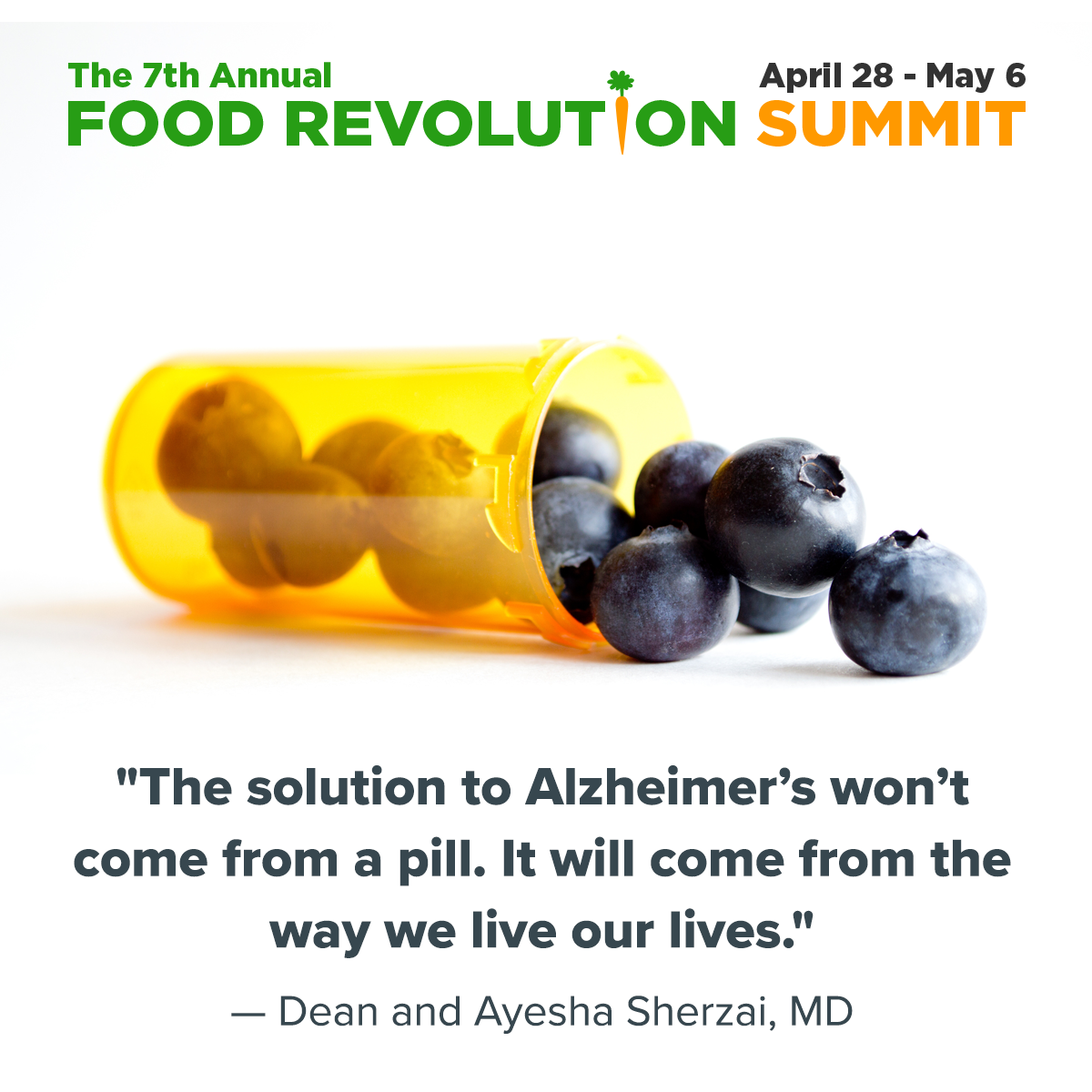 Don't miss Dean and Ayesha Sherzai, MD during the 2018