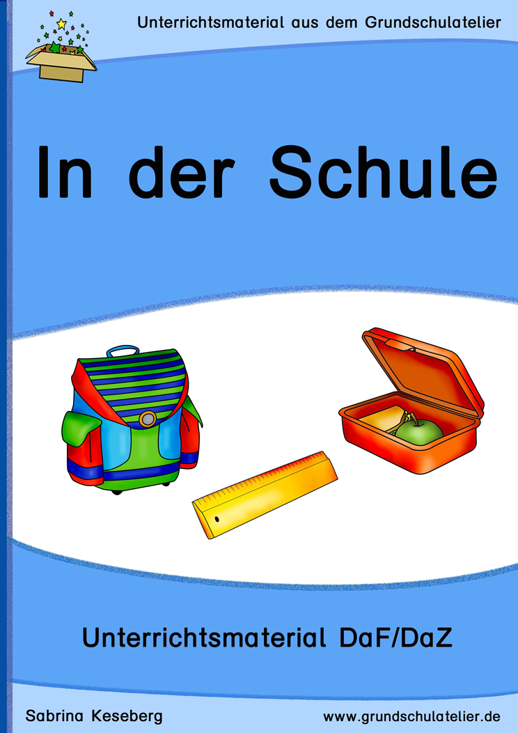 daf daz schulsachen schule unterrichtsmaterial f r die grundschule deutsch als. Black Bedroom Furniture Sets. Home Design Ideas