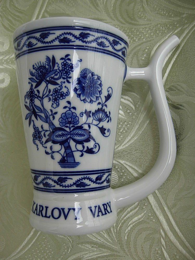 Vintage Blue Onion Czechoslovakian Cup Porcelain China Teacup Czech