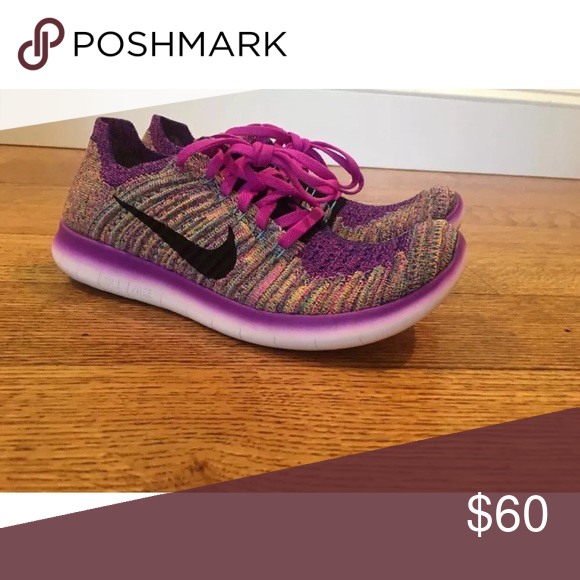cheap for discount 62a46 dc0b8 Nike free flyknit RN violet 7.5