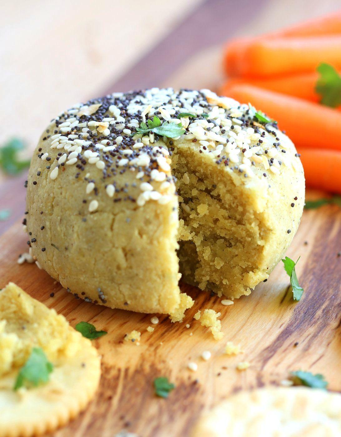 Everything Bagel Vegan Cheese Ball 10 Minute No Soaking Straining Vegan Richa Recipe Vegan Cheese Everything Bagel Cheese Ball