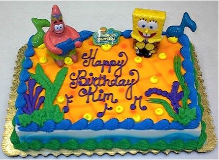 Spongebob Birthday Cake Ideas for jordences first birthday