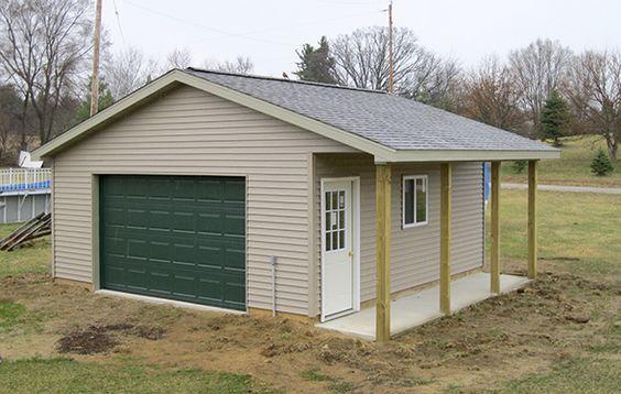 Pole Barn Garage With Porch