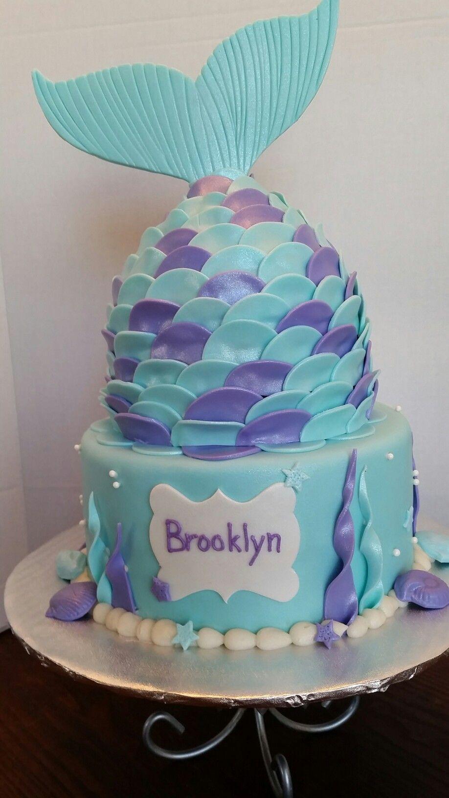 Mermaid Tail Cake 6th Birthday Cakes Tea Party Birthday