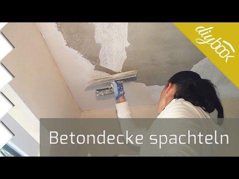 Betondecke Spachteln Betondecke Deckchen Und Wand Verputzen