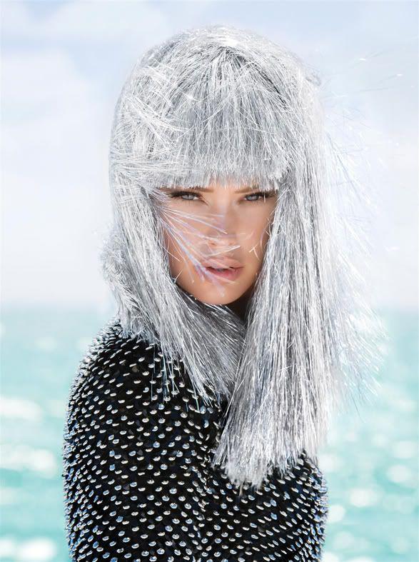 Glitter tinsel wig