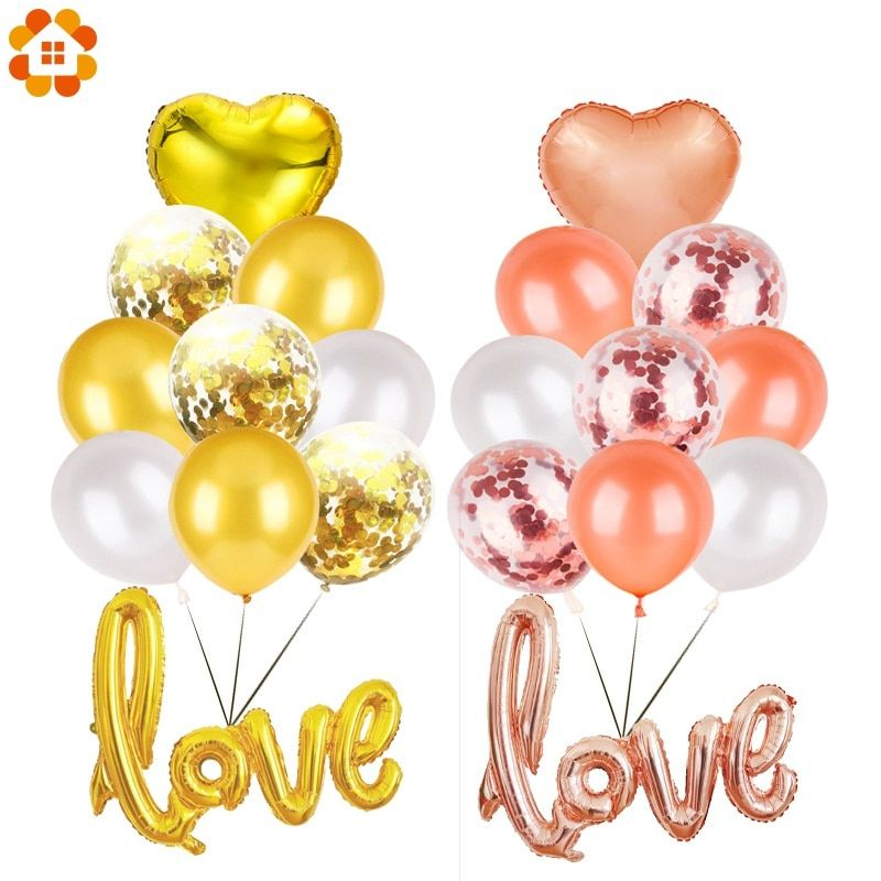 Air or Helium Fill Pack of 8 Multicoloured Anniversary Party Balloons Happy Anniversary