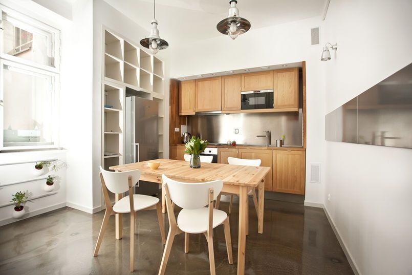Kuchnia We Wnece Apartment Dining Apartment Dining Room Small Apartment Dining Room
