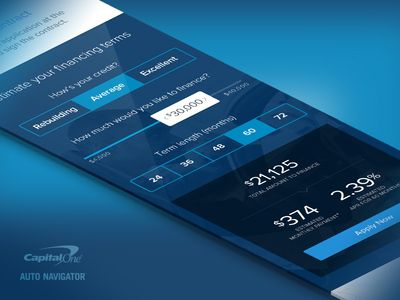 Auto Loan Financing Calculator  Ui Ux