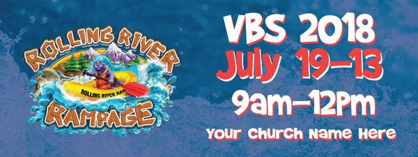 River Rafting Vbs Custom Outdoor Vinyl Banner For Vbs