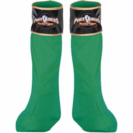 Power Rangers Green Boot Covers Adult Halloween Accessory, Size: Standard-Accesory