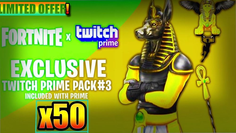 Best Offer Fortnite 50 Twitch Prime Pack 2 3 Limited Time