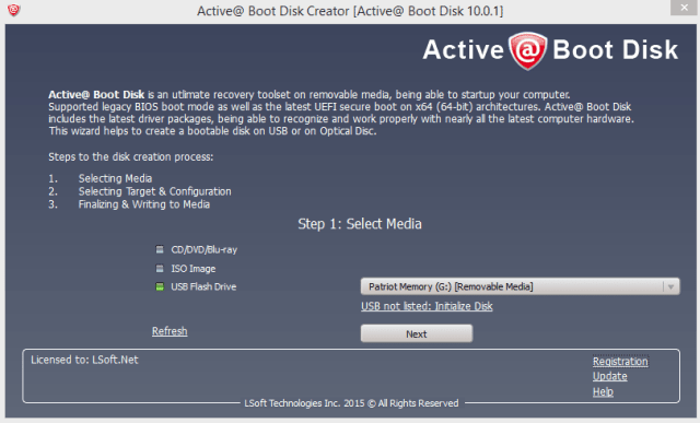 Active@ Boot Disk Creator 12 0 8 0 Portable Download | PC
