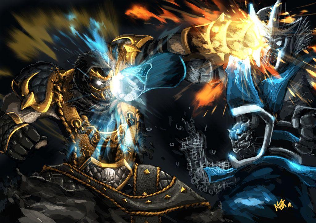 scorpion vs sub-zero | scorpion vs subzero Mortal Kombat