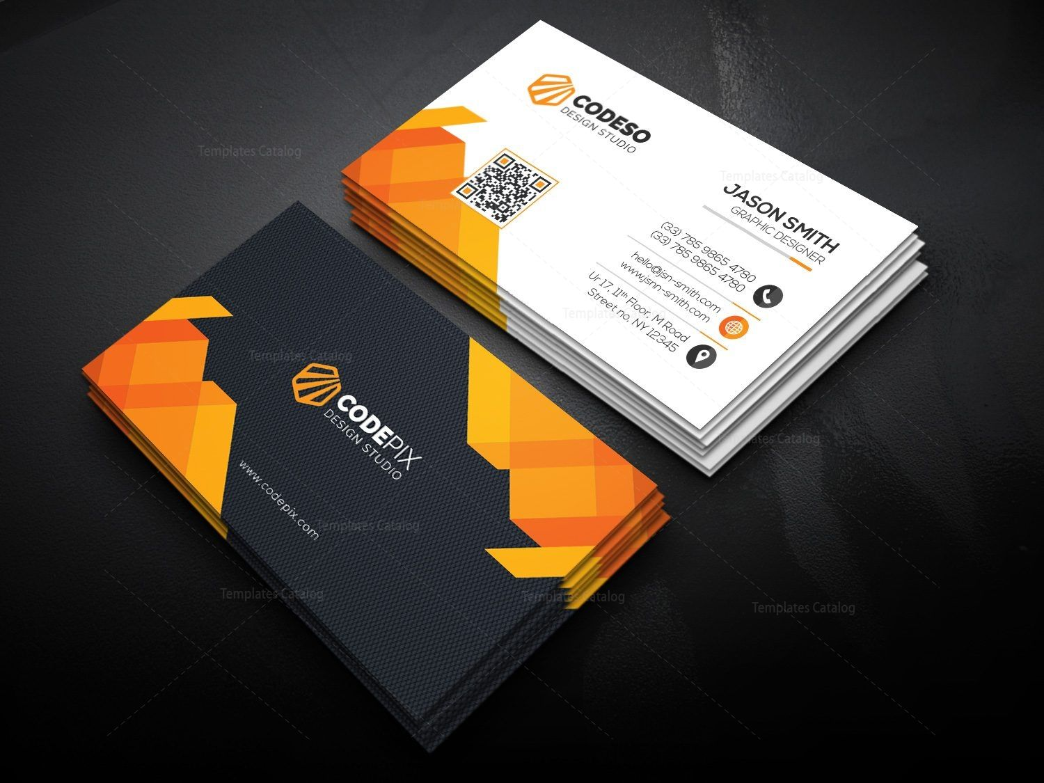 Ultra Business Card Template - Graphic Templates  Business card