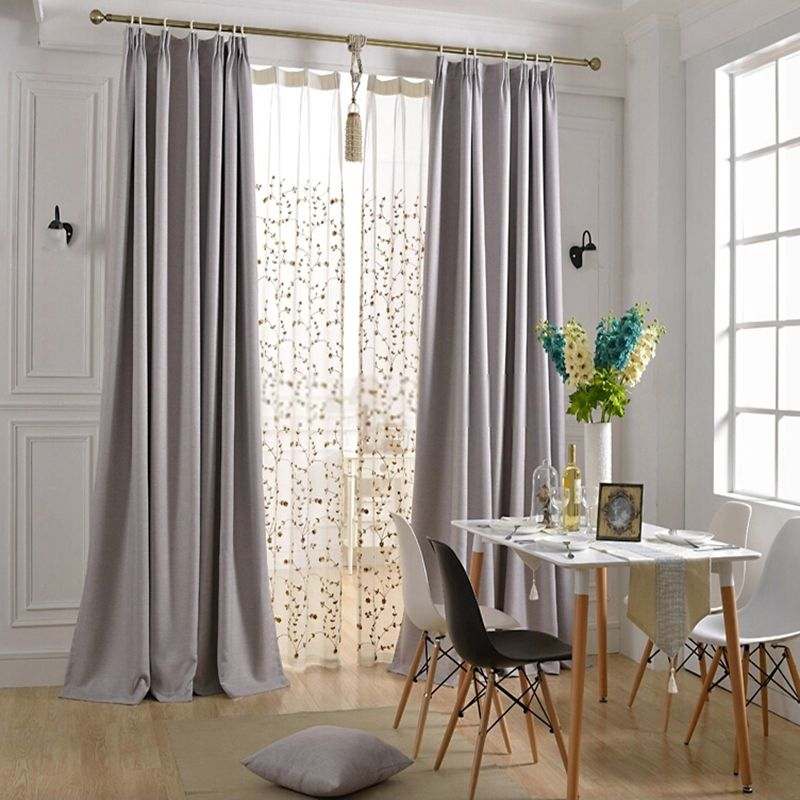 Simple But Graceful Modern Light Grey Curtains In 2019